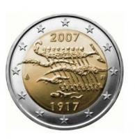 """Finland bijzondere 2 Euromunten - Finland 2 Euro 2007 """"90 jaar Finland"""""""