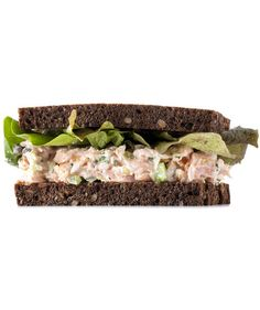 Smoked Salmon Salad Sandwich | Mix freshly roasted salmon with smoked salmon for a delicious filling that's not overpowering. Bonus: The salmon mixture can be made up to 3 days in advance.