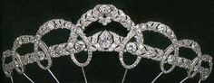 Diamond Garland Tiara by Cartier, circa 1927, it is unknown if the tiara is still in existence.