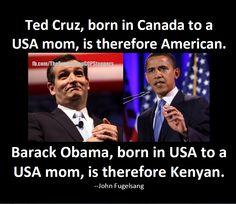 Ted Cruz and Birther Hypocrisy