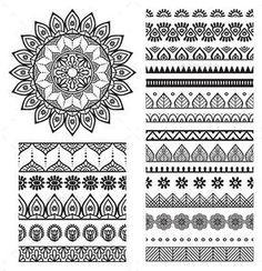 Mandala Ornament and Borders - Decorative Symbols Decorative