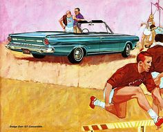 1964 Dodge Dart GT Convertible / Advertising Illustration