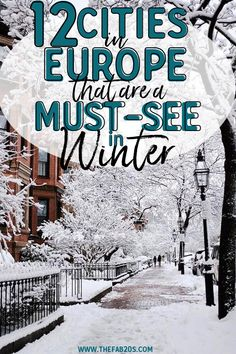 Absolutely gorgeous winter wonderland cities in Europe you HAVE to see when traveling. These winter travel destinations are BREAH TAKING and absolutely beautiful #WinterInEurope #Travel #WinterTravel