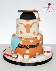 Dental graduation, cakes, decorative, designed, teeth, congratulations!
