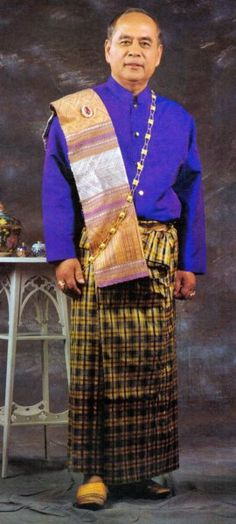 Thiland Traditional Clothing | Traditional Thai Style Men's Outfit