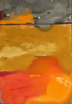 Abstract Landscape Acrylic Painting by Marty Kalb titled: Arroyo Sacco, created in 1986