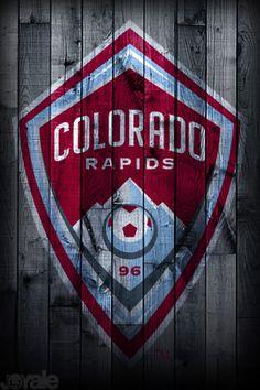 "Colorado Rapids football club badge -- ""Glory, Glory, Colo-rado!!"""