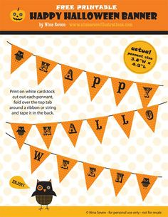 Halloween Cupcake Toppers Ghost and Owl Placecards Halloween Printable Banner Boo Owl Printables Whether you ar...