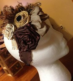 Vintage Headband Various Flower and Feather Styles on Etsy, $15.00