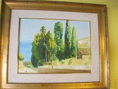 Olio su tela, Rappresentante uno scorcio pittoresco. Contatto: micheleboscia89@gmail.com #art #scorcio #sicily #sicilia #alberi #caronia #paesaggio #view