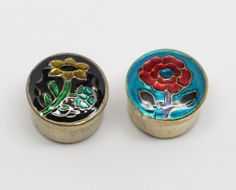 Aphrodesia Solid Perfume In Cloisonne Brass Tins - Set of Two - Song of India by Song of India Solid Perfume (Brass Tin). $10.95. A great way to wear perfumes, no spill and no mess.. Set of two, each tin is about 7/8 inch wide and 5/8 tall.. Natural solid perfume in a set of two decorated brass tins.. From India.. Create memorable moments with exotic fragrances.. Natural solid perfume in a set of two hand decorated cloisonne brass tins. Create memorable moments ...