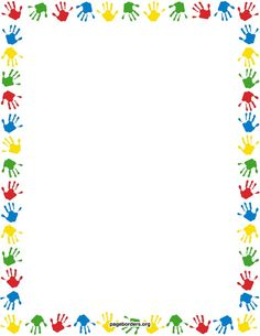Free handprint border templates including printable border paper and clip art versions. Vector images are also available. Printable Border, Printable Paper, Borders For Paper, Borders And Frames, Page Boarders, School Border, Border Templates, School Frame, School School