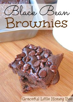 You would never know these brownies are made with beans, plus they are gluten-free!