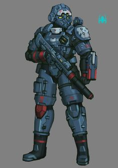 Nexus Tactical Marine by on DeviantArt Sci Fi Armor, Sci Fi Weapons, Character Art, Character Design, Character Ideas, Armor Concept, Concept Art, Futuristic Armour, Future Soldier