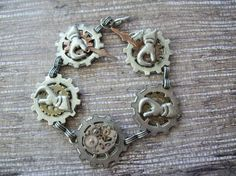 Steampunk Charm Bracelet by annielorraine. Explore more products on http://annielorraine.etsy.com