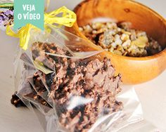 Bombons de Chocolate e Granola