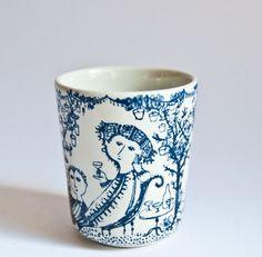 Bjorn Wiinblad // Garden Party Beaker Vase // Nymolle