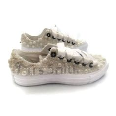 Fully pearled and personalised wedding converse 150.00 - available here and from our etsy shop (link in bio) #weddingshoes #wedding #weddingconverse #customcons #customkicks #customconverse #customchucks #pearlconverse #pearls #personalisedshoes #personalizedshoes #pearlweddingshoes #storewidesavings #10percentdiscount #blackfriday #blingconverse #blingshoes #shoeenvy #shoes #shoegame #thecraftdome #etsysellersofinstagram #etsyseller #etsyshop #instafabulous #instagreat