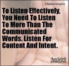#NetworkingRx: What do you think about when others are talking?