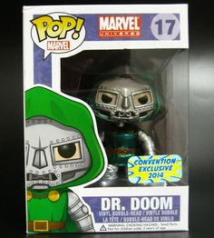 Funko Pop Dr.Doom Metallic Marvel Bangkok Comic Con Exclusive Fantastic Four NIB #FUNKO