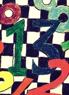 3rd grade art. #numbers #colour #art