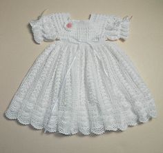 Crochet Christening Gown Pattern Christening Gown Pattern And Designs Lisaauch Rhscom Blessing Crochet Christening Gown Pattern Christening Sets To Knit For Ba 11 Free Patterns Grandmothers. Crochet Christening Gown Pattern Free Easy To Crochet . Crochet Baby Dress Pattern, Baby Dress Patterns, Crochet Lace Dress, Gown Pattern, Crochet Patterns, Knitting Patterns, Crochet Baby Bonnet, Baby Girl Crochet, Crochet Baby Clothes