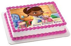 Doc McStuffins 2 Edible Birthday Cake Topper OR Cupcake Topper, Decor - Edible Prints On Cake (Edible Cake &Cupcake Topper)