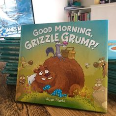 Just received copies of my new book- Good Morning Grizzle Grump! Will be on the shelves April 18th from @harperchildrens  #illustration #kidlitart #childrensbooks #spring