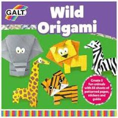 The Galt Wild Origami is a fun creative activity. Butterfly Cushion, Origami Step By Step, Mosaic Pictures, Travel Toys, Needle Book, Craft Box, Creative Activities, Jungle Animals, Origami Paper