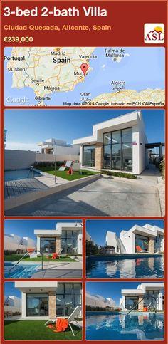 3-bed 2-bath Villa in Ciudad Quesada, Alicante, Spain ►€239,000 #PropertyForSaleInSpain