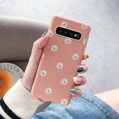 White Daisy Case For Samsung Galaxy – Tangerine Pal Android Phone Cases, Girly Phone Cases, Phone Covers, Samsung Cases, Iphone Cases, Capas Samsung, Galaxy Phone, Samsung Galaxy, Aesthetic Phone Case