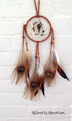 check out this #dreamcatcher #natveamerican #boho #tribal #feathers #tigerseye #stone #dream
