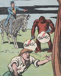 """""""Is that a monkey?"""" """"He's got two guns!"""""""