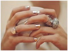 ♥ Gold Foil Nails Tutorial ♥