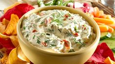 1 cup sour cream 1 cup mayo 1 package Knorr vegetable soup mix 1 package frozen chopped spinach thawed & drained Mix together and chill at least 2 hours Appetizer Dips, Appetizer Recipes, Knorr Vegetable Dip, Tapas, Spinach Soup, Dip Recipes, So Little Time, At Least, Food And Drink