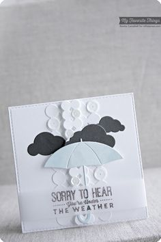 Blue Skies Ahead, Cloud Cover-Up Die-namics, Double Dots Die-namics, Layered Umbrella Die-namics, Mini Double Dots Die-namics - Keisha Campbell #mftstamps