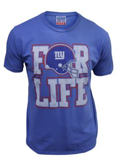 NY Giants FOR LIFE! Awesome tee in the sale on www.junkfoodclothing.com $26