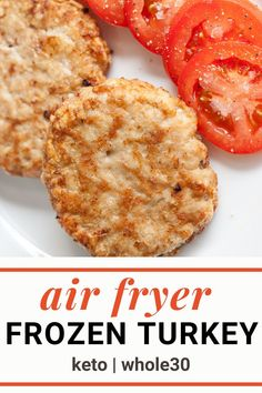 Did you know you can cook a frozen turkey burger in the air fryer? Cooking frozen burgers whether beef or turkey is a great way to get an easy healthy dinner on the table with a cook time of under 20 minutes! Make these juicy air fryer turkey burgers for anyone on keto, Whole30 or any healthy diet.