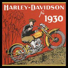 HarleyDavidson Vintage Motorcycle Rider 1930 by DelightfulTrifles, $18.00