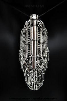 Spaceship monster pendant  large industrial wire wrapped by IMNIUM, $749.00