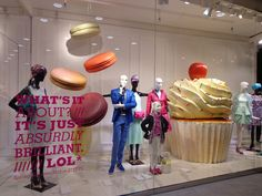 """Having a sweet tooth, the new display of the department store """"Steffl"""" via Vreni's Vienna Daily Photo blog @Molly Kerfoot"""