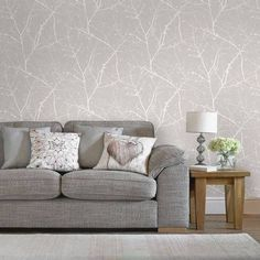 Wallpaper Trends 19 Stunning Examples of Metallic Wallpaper Neutral Wallpaper, Metallic Wallpaper, Modern Wallpaper, Textured Wallpaper, Wall Wallpaper, Botanical Wallpaper, Wallpaper Roll, Wallpaper For Living Room, Tv Decor