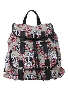 Day Of The Dead Skull Rose Slouch Backpack | Hot Topic at HelloShoppers