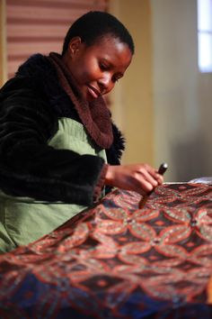 Block-printing in Swaziland! (photo credit Henrique Wilding)