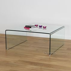 Geo Glass Clear Square Coffee Table