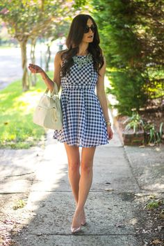 gingham dress! find it here: http://shopjulianas.com/collections/dresses/products/sweet-as-apple-pie-dress
