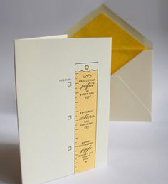 Practically Perfect Letterpress Card