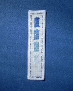 tardis cross-stitch bookmark