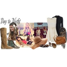 day to night, created by majibitca on Polyvore