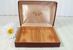 Antique OxBlood Leatherette Jewelry Box  Vintage by DivineOrders, $14.00